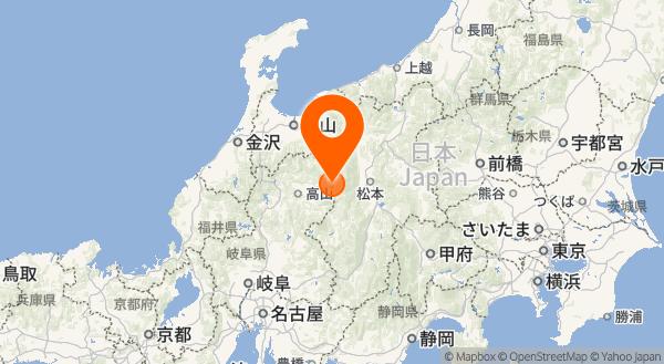 焼岳の地図情報