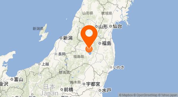 磐梯山の地図情報