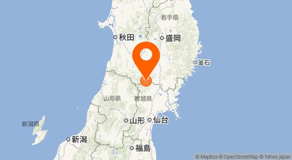 栗駒山の地図情報