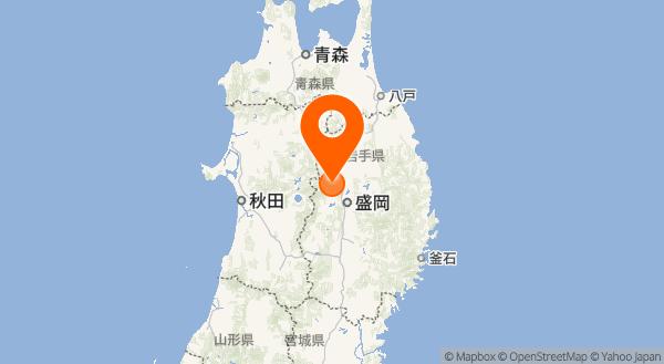 岩手山の地図情報